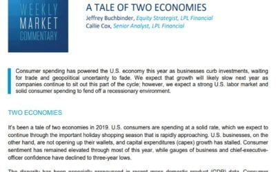 A Tale of Two Economies   Weekly Market Commentary   November 11, 2019